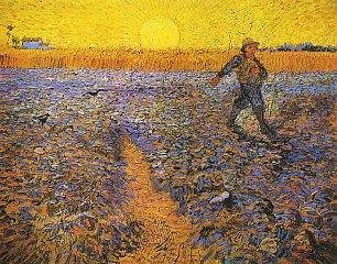 Vincent van Gogh Saemann bei untergehender Sonne Wandbilder