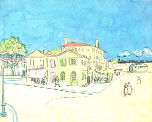 Vincent van Gogh Studie zu Vincents Haus in Arles