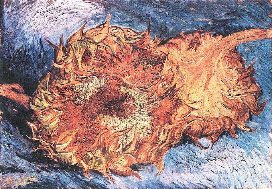 Vincent Van Gogh Zwei Abgeschnittene Sonnenblumen Bild Auf Leinwand