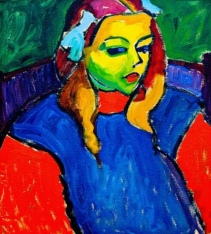 von Jawlensky Girl with the green face