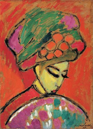 von Jawlensky Young Girl with a Flowered Hat
