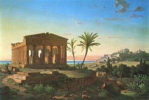 Leo von Klenze Der Concordia Tempel von Agrigento Wandbilder