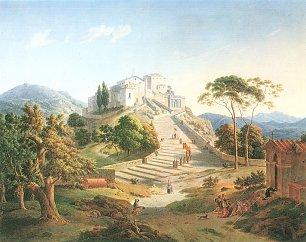 Leo von Klenze Der Monta Sacro von Varese in der Lombardei Wandbilder
