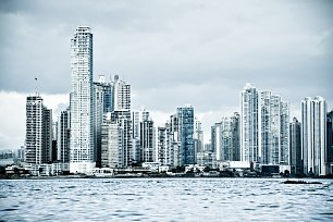 City Skyline Panama Wandbild