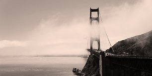 Golden Gate Bridge Retro Wandbild