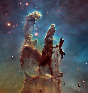 Hubble Pillars of Creation 2015 Wandbild