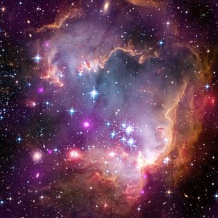 Hubble Under the Wing of Small Magellanic Cloud Wandbild